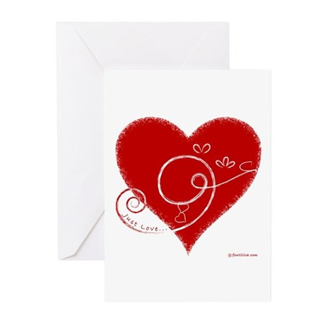 Eshgh (Love in Persian) Greeting Cards (Pk of 10)