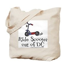 Ride Scooter out of DC Tote Bag
