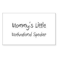 Mommy's Little Motivational Speaker Decal