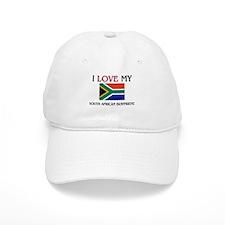 I Love My South African Boyfriend Baseball Cap