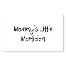 Mommy's Little Mortician Rectangle Decal