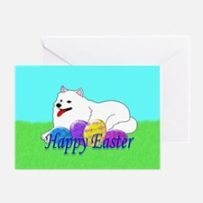 Samoyed Easter Greeting Card