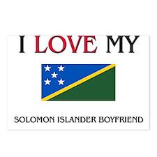 I Love My Solomon Islander Boyfriend Postcards (Pa