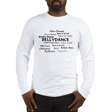 Names of Bellydance round Long Sleeve T-Shirt