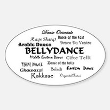 Names of Bellydance round Oval Decal