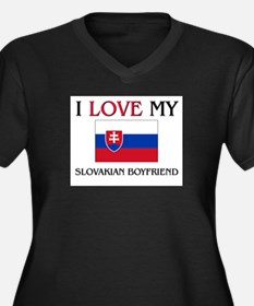 I Love My Slovakian Boyfriend Women's Plus Size V-