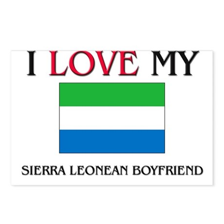 I Love My Sierra Leonean Boyfriend Postcards (Pack
