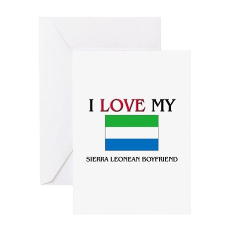 I Love My Sierra Leonean Boyfriend Greeting Card