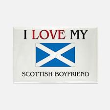 I Love My Scottish Boyfriend Rectangle Magnet