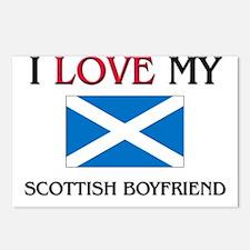 I Love My Scottish Boyfriend Postcards (Package of