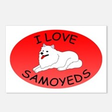 I Love Samoyeds Postcards (Package of 8)