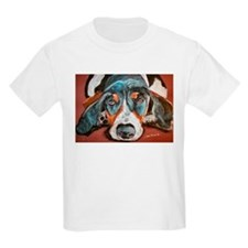 """Chip"" a Basset Hound Kids T-Shirt"