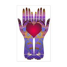Heaven Hands Rectangle Decal