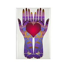 Heaven Hands Rectangle Magnet