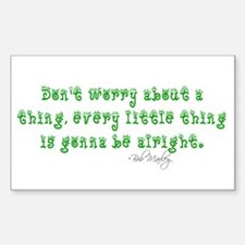 Marley Quote Rectangle Decal