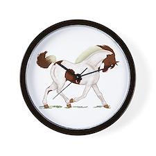 Chestnut Skewbald Horse Wall Clock