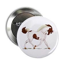"Chestnut Skewbald Horse 2.25"" Button"