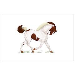 Chestnut Skewbald Horse Posters