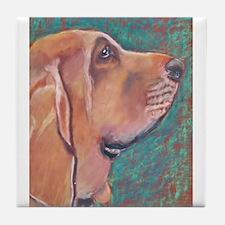 """Hank"" a Bloodhound Tile Coaster"