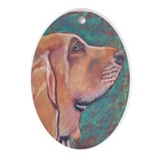 """Hank"" a Bloodhound Keepsake (Oval)"