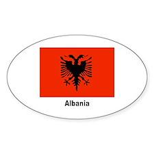 Albania Albanian Flag Oval Decal