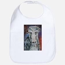 A Scottish Deerhound Bib