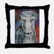A Scottish Deerhound Throw Pillow