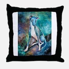 A Greyhound Throw Pillow