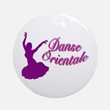 Purple Danse Orientale Keepsake (Round)