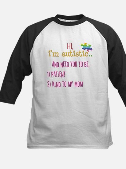 Hi,autism awareness tee Kids Baseball Jersey