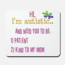 Hi,autism awareness tee Mousepad
