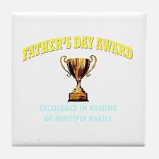 Father's Day Award Tile Coaster