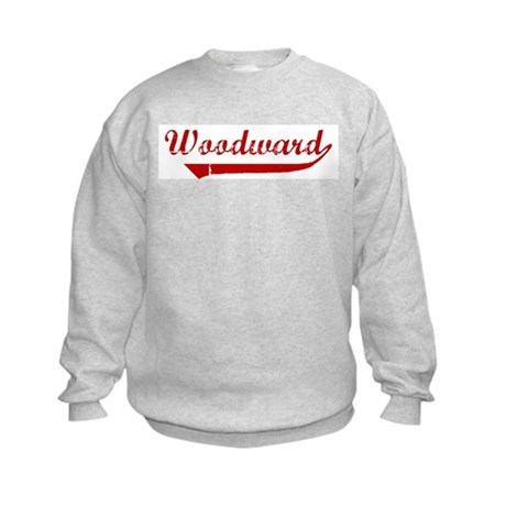 Woodward (red vintage) Kids Sweatshirt