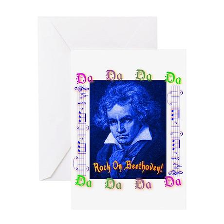 Beethoven Rocks! Greeting Card