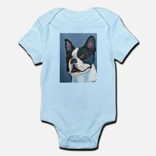 """Another BT"" a Boston Terrier Infant Creeper"