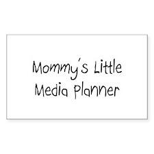 Mommy's Little Media Planner Rectangle Sticker
