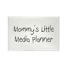 Mommy's Little Media Planner Rectangle Magnet