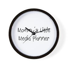 Mommy's Little Media Planner Wall Clock