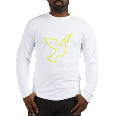 Yellow Peace Dove Long Sleeve T-Shirt