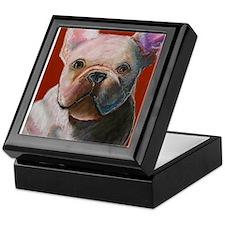 French Bulldog Painting Keepsake Box