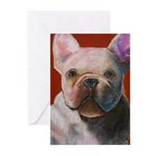 French Bulldog Painting Greeting Cards (Package of