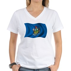 Wavy Maine Flag Shirt