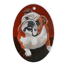"""Bertha"" a Bulldog Keepsake (Oval)"