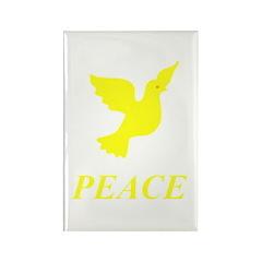 Yellow Dove Rectangle Magnet