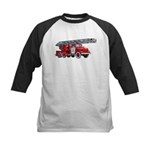 Fire Engine Kids Baseball Jersey