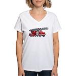 Fire Engine Women's V-Neck T-Shirt