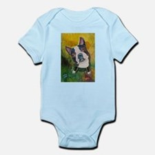 A Boston Terrier Infant Creeper