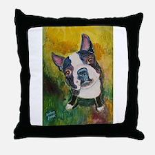 A Boston Terrier Throw Pillow