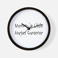 Mommy's Little Market Gardener Wall Clock