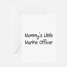 Mommy's Little Marine Officer Greeting Cards (Pk o